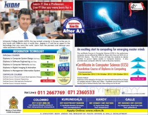 NIBM Diploma Programme September 2013 intakes