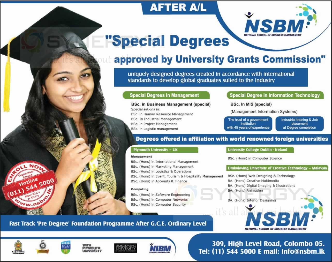 Nsbm Degree Programmes Synergyy