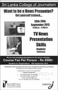 News Reader  Presenter Workshop in Sri Lanka by Sri lanka college of jounalism