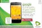 Nexus 4 for Rs. 74,990.00 in Sri Lanka by Etisalat – September 2013