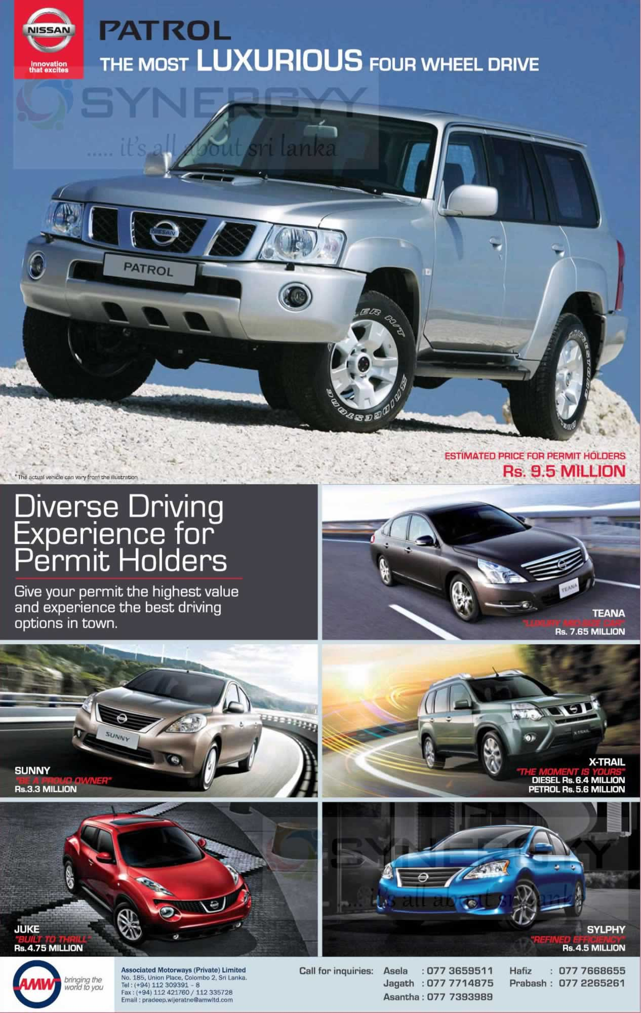 Nissan Vehicles 2015 Nissan Vehicle Prices in Sri