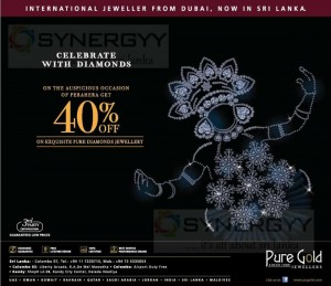 Pure Gold 40% off for pure diamond jewelry