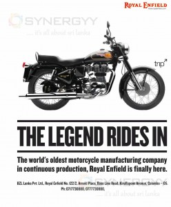 Royal Enfield Now in Sri Lanka for Rs. 680,000 + VAT Upwards