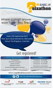 SLASSCOM Uizathon on 27th September 2013