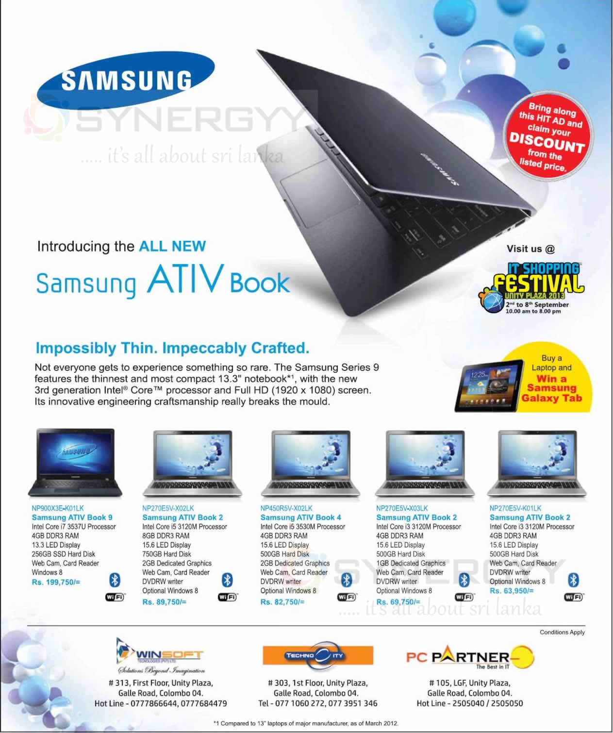 samsung ativ book prices and promotions in sri lanka september 2013 synergyy. Black Bedroom Furniture Sets. Home Design Ideas