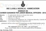 Seminar on Career Guidance for Junior Medical officers by Sri Lanka Medical Association