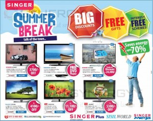 Singer Sri lanka Summer break Promotion for Singer TV