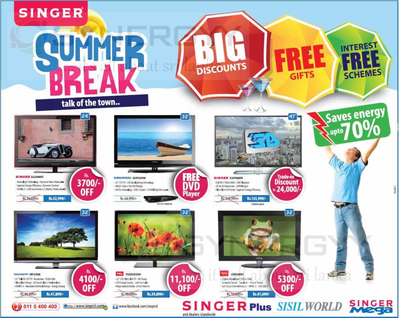 Singer Sri Lanka Summer Break Promotion For Singer Tv
