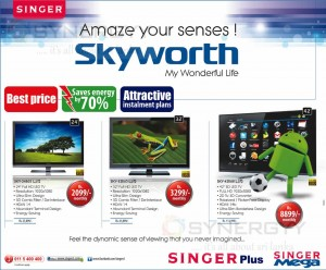 Skyworth TV Promotions only on Singer Sri Lanka