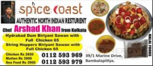 Spice Coast – Authentic North Indian Resturant in Bambalapitiya