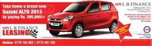 Suzuki Alto 2013 for Rs. 295,000.00 with LB Finance Leasing – September 2013