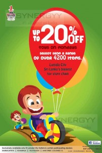 Up to 20% Toys on Mondays from Lumala Cycle
