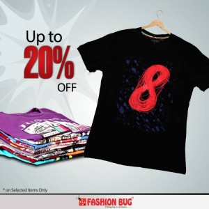 Upto 20% Off on Girls and Kids Jeans and Men T-Shirts at Fashion Bug