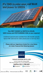 Vence Solar Power System for Domestic or Home usages