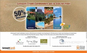 50% off at Maalu Maalu Resort & Spa Passekudah for Sampath Bank Credit Card till 30th November 2013