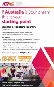 Australian Business and IT Degree Programme in Sri Lanka