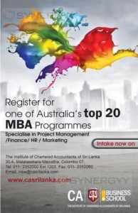 Australian MBA from CA Srilanka – Intakes Open Now