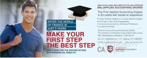 BSc. (Applied Accounting) Degree from CA Sri lanka