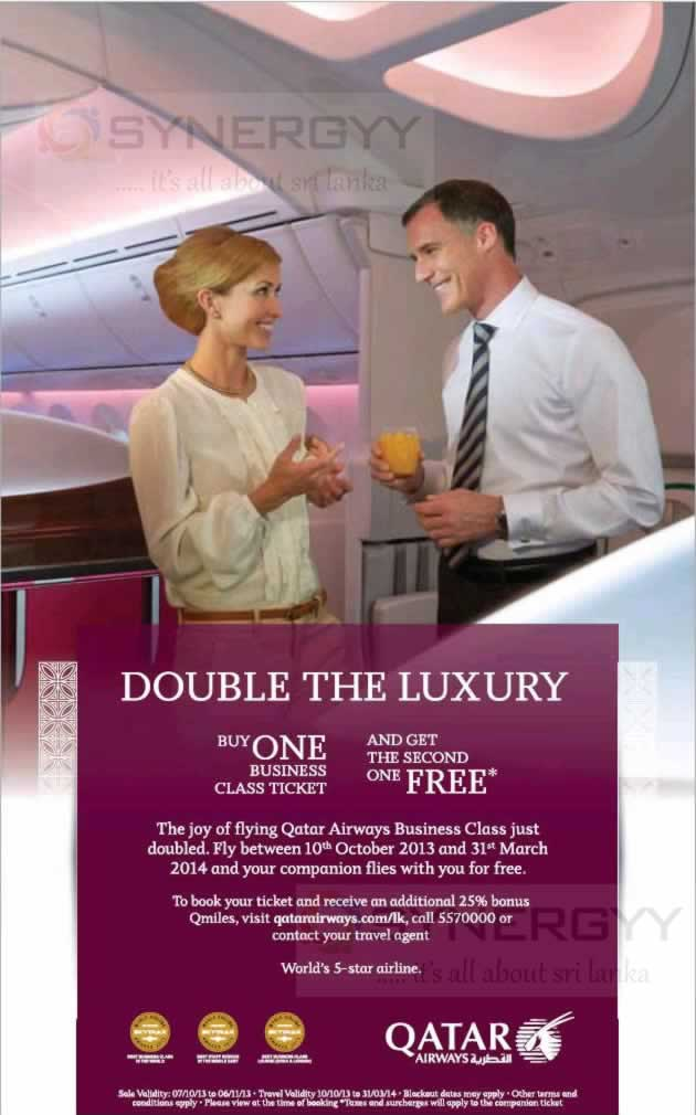 """The national carrier's announced that the """"Buy-One-Free-One"""" promotion is valid to buy until 18th April for travels up to 30th November"""