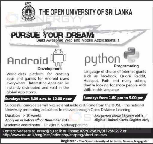 Short Courses In Sri Lanka Synergyy