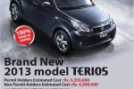 Daihatsu Terios SUV Price in Sri Lanka – Rs. 4.5 Million for Non permit Holders