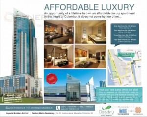 Destiny Condominium Apartment in Colombo from Rs. 15 Million