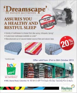 Hayleys Mattresses 20% ends today 26th October 2013