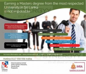 IHRA University of Colombo Master Degree Programme in Sri Lanka