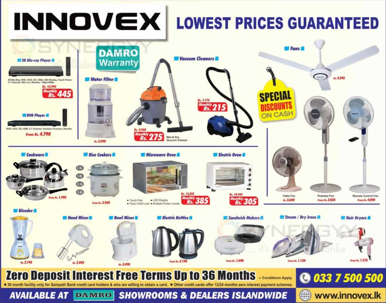 Innovex Lowest Prices Promotion From Damro October