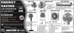 KDK Energy Saving Fan for Rs. 5,600.00 Upwards
