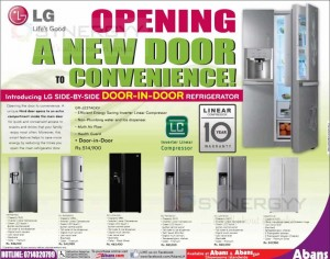 LG side by side door in door refrigerator now available in Sri Lanka for Rs. 514,900.00 – October 2013