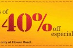 Leather Collection 40% off at Flower Road till 27th October 2013