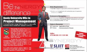 MSc in Project Management by SLIIT