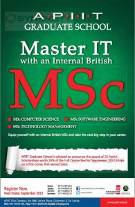 Master Degree Programme in IT from APIIT
