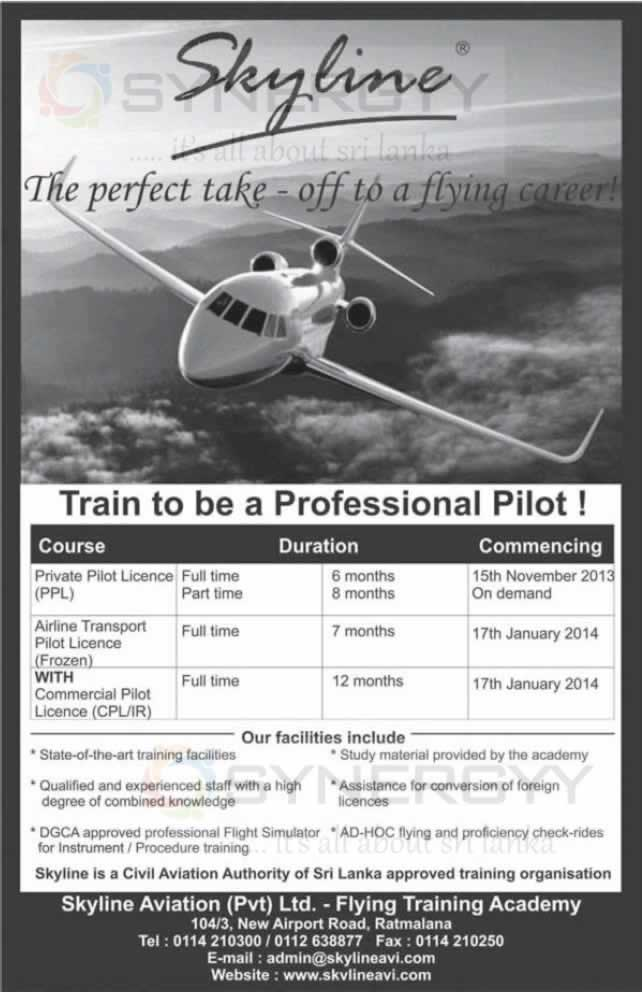 Private Pilot And Commercial Pilot Licence In Sri Lanka From Skyline