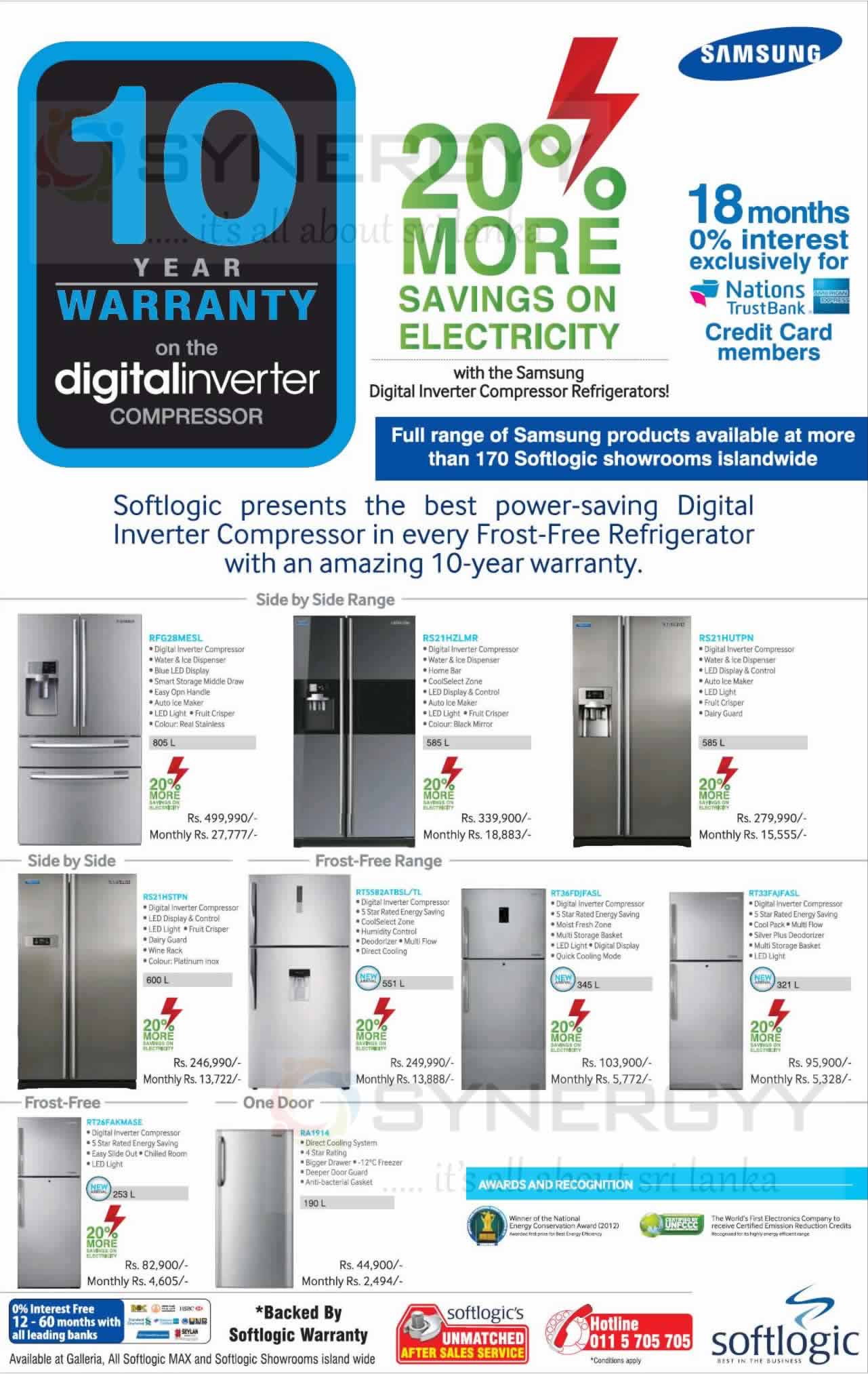 Samsung Refrigerators with 10 years warranty from Softlogic