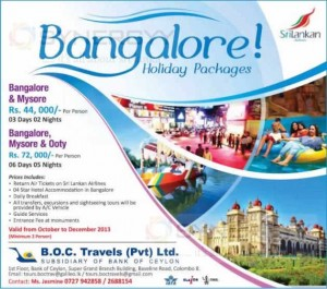 Sri Lanka Airlines- Bangalore Holiday packages starts from Rs. 44,000.00
