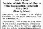 University of Kelaniya External Degree Examination 2011- 2012
