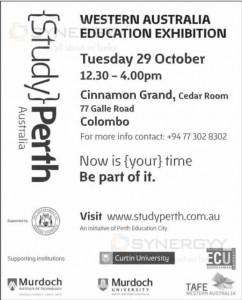 Western Australia Education Exhibition on Tuesday 29 October 2013