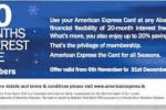 20% Save at Abans for American Express Credit Card – till 31st December 2013