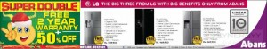 Abans LG Refrigerators Promotion – Pre Christmas Sale