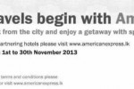 American Express Hotels/ Accommodation Offers for November 2013