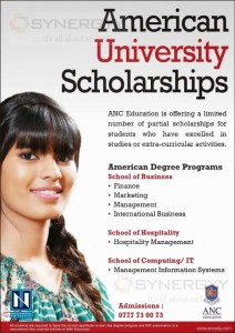 American University Scholarships from ANC – November 2013