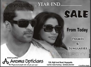 Anoma Optician Year End Sale