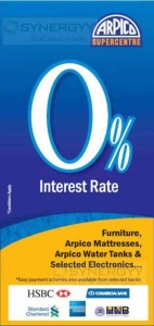Arpico Super Centre Easy Payment Scheme with 0% Interest