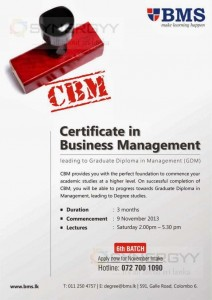 BMS - Certificate in Business Management