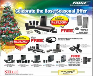 Bose Home Theatre System Prices in Sri Lanka – Special Promotion till 31st December 2013