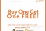 Bread Talk Buy One Get One FREE Promo – 1st Nov to 8th Nov 2013