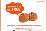 Bread Talk Buy One Get One FREE Promotion Opens till 8th November 2013