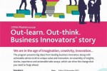 CIMA Master Course Out-learn. Out-think. Business Innovators' story on 29th November 2013